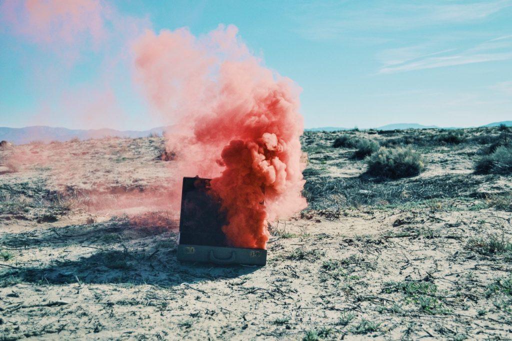 Une valise qui explose, c'est fâcheux
